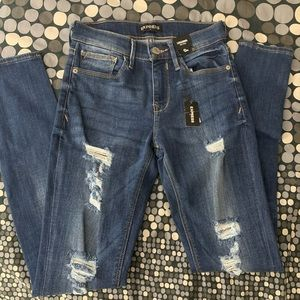 COPY - Express Ripped Legging Mid Rise Jeans 0R